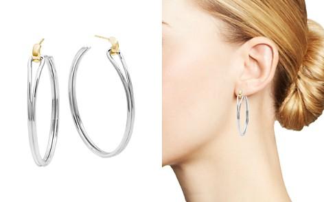 Shinola 14K Yellow Gold & Sterling Silver Large Lug Hoop Earrings - Bloomingdale's_2