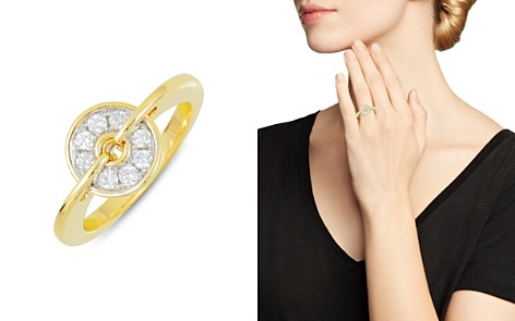 Frederic Sage 18K White & Yellow Gold Diamond Small Spinning Disc Ring - Bloomingdale's_2