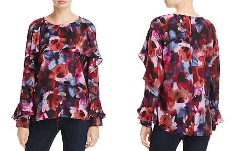 Cupio Floral Print Ruffle Blouse - Bloomingdale's_2