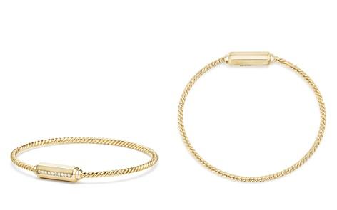 David Yurman Barrels Bracelet with Diamonds in 18K Gold - Bloomingdale's_2