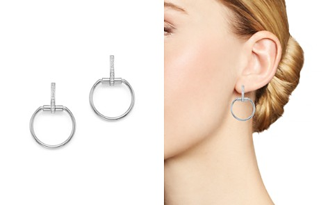 Roberto Coin 18K White Gold Classic Parisienne Diamond Small Round Earrings - Bloomingdale's_2