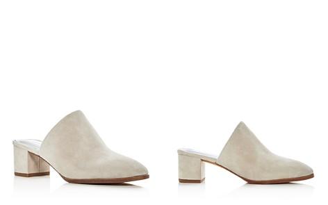 Via Spiga Women's Ureila Suede Block Heel Mules - Bloomingdale's_2