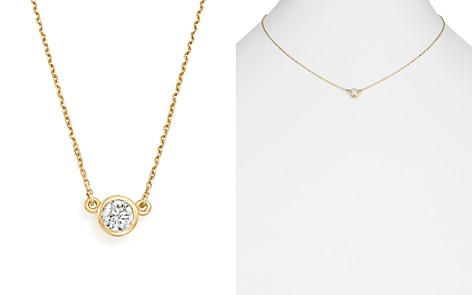 Bloomingdale's Diamond Bezel Pendant Necklace in 14K Yellow Gold, .50 ct. t.w. - 100% Exclusive_2
