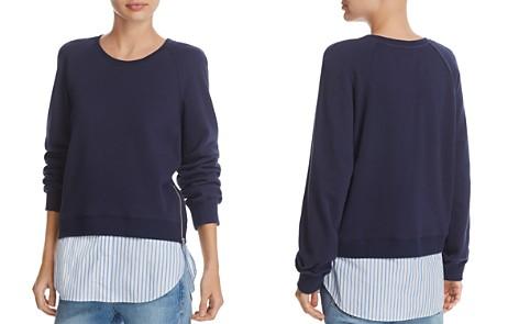 Derek Lam 10 Crosby Crewneck Shirttail Sweatshirt - Bloomingdale's_2