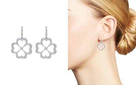 Gumuchian 18K White Gold G Boutique Kelly Diamond Clover Earrings - Bloomingdale's_2