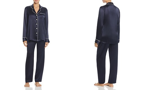 GINIA Classic Silk Pajama Set - Bloomingdale's_2