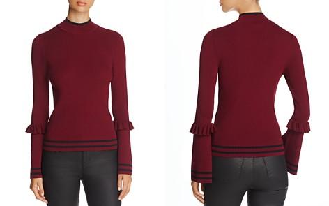 Marled Track Stripe Ruffle Trim Sweater - Bloomingdale's_2