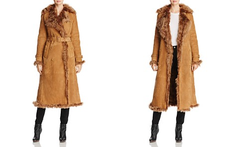 Burberry Tolladine Shearling Trench Coat - Bloomingdale's_2