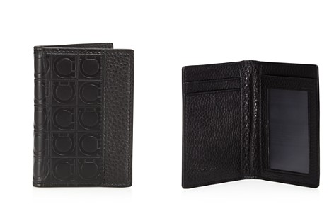 Salvatore Ferragamo Stamped Gancini and Pebbled Bifold Wallet - Bloomingdale's_2
