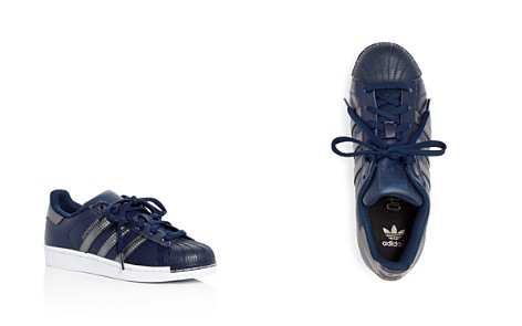 Adidas Unisex Superstar Leather Lace Up Sneakers - Big Kid - Bloomingdale's_2