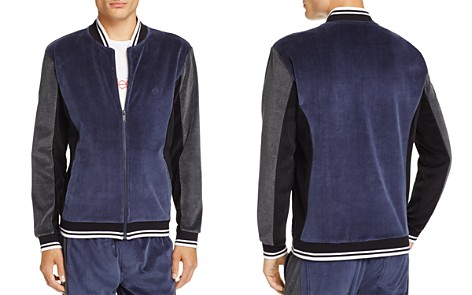 Calvin Klein Jeans Velour Color-Block Bomber Jacket - Bloomingdale's_2