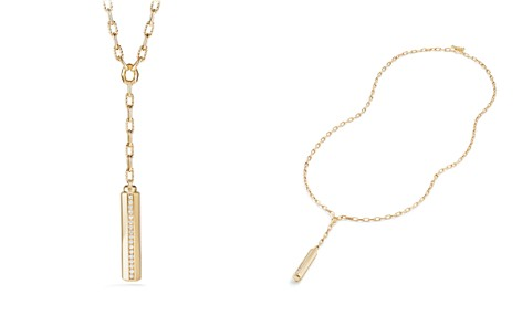 David Yurman Barrels Y Necklace with Diamonds in 18K Gold - Bloomingdale's_2