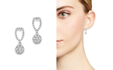 Bloomingdale's Diamond Cluster Drop Earrings in 14K White Gold, .75 ct. t.w. - 100% Exclusive_2