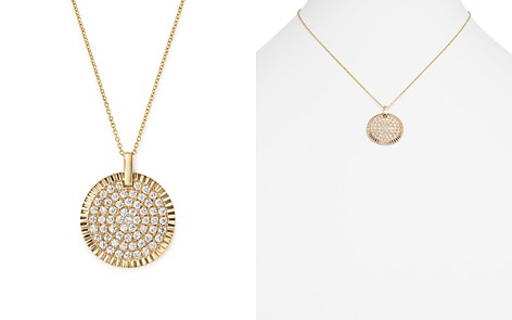 Bloomingdale's Diamond Medallion Pendant Necklace in 14K Yellow Gold, 1.75 ct. t.w. - 100% Exclusive_2