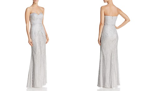 Bariano Strapless Sequin Lace Gown - Bloomingdale's_2