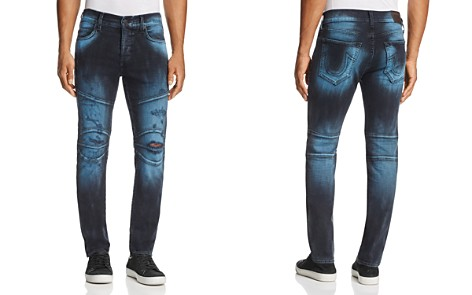 True Religion Rocco Biker Super Slim Fit Jeans in Blue Blaze - Bloomingdale's_2