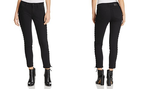 Mavi Adriana Lace-Up Ankle Skinny Jeans in Black Eyelet - Bloomingdale's_2