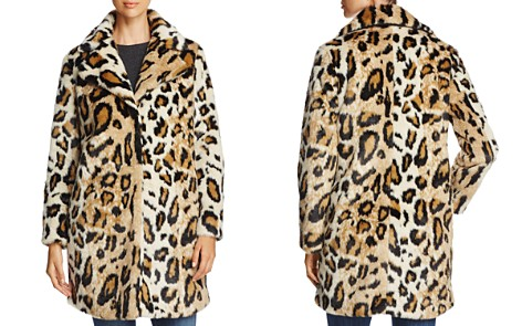cupcakes and cashmere Abeni Leopard Print Faux Fur Coat - Bloomingdale's_2