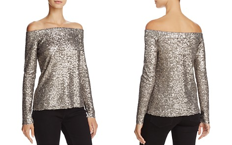 Bailey 44 Title Roll Sequined Off-the-Shoulder Top - Bloomingdale's_2