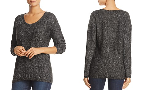 NYDJ Drop Shoulder Marled Sequin Sweater - Bloomingdale's_2