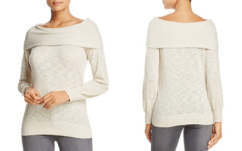 Heather B Foldover Boat Neck Sweater - 100% Exclusive - Bloomingdale's_2