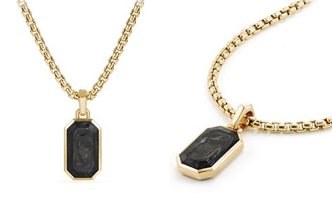 David Yurman Men's Forged Carbon Amulet with 18K Gold - Bloomingdale's_2