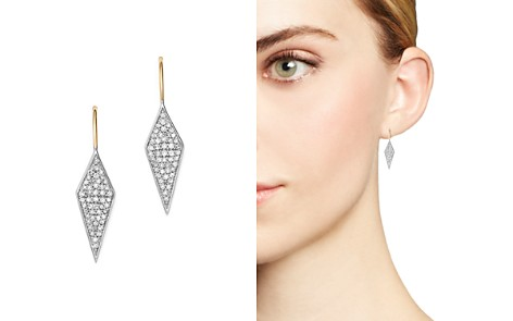 Adina Reyter Sterling Silver & 14K Yellow Gold Long Pavé Diamond Earrings - Bloomingdale's_2