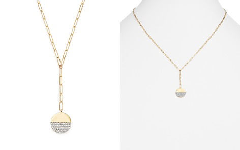 "Adina Reyter 14K Yellow Gold Solid Pavé Diamond Disc Chain Lariat Necklace, 20"" - Bloomingdale's_2"