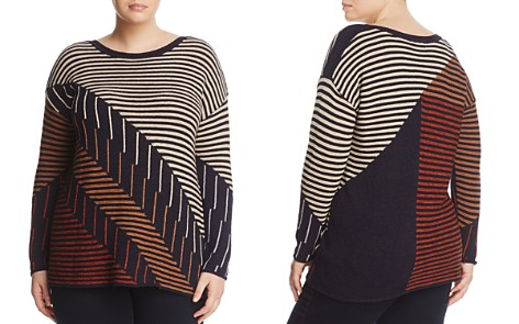 NIC+ZOE Plus Lagoon Mixed Stripe Sweater - Bloomingdale's_2