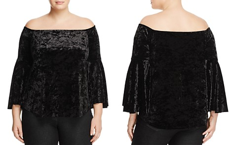 Love Ady Plus Crushed Velvet Off-the-Shoulder Top - 100% Exclusive - Bloomingdale's_2