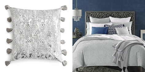 "Sky Ines Distressed Metallic Diamond Decorative Pillow, 18"" x 18"" - 100% Exclusive - Bloomingdale's_2"