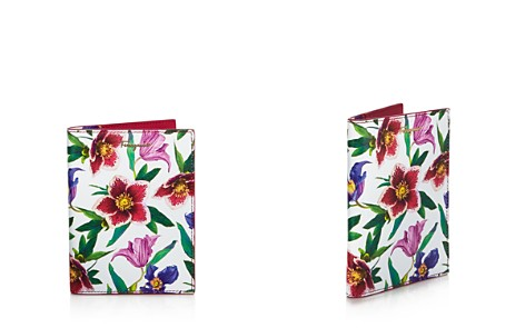 Salvatore Ferragamo Floral Print Leather Passport Case - Bloomingdale's_2