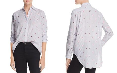 Rails Taylor Flocked Heart Stripe Shirt - Bloomingdale's_2