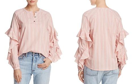 Ella Moss Ruffle-Trim Striped Shirt - Bloomingdale's_2