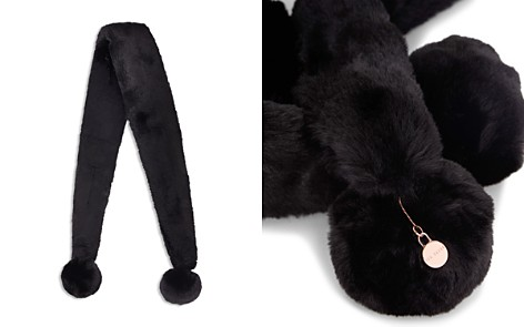 Ted Baker Neola Pom Pom Long Faux Fur Scarf - Bloomingdale's_2