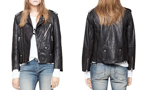 Zadig & Voltaire Liya Deluxe Leather Moto Jacket - Bloomingdale's_2