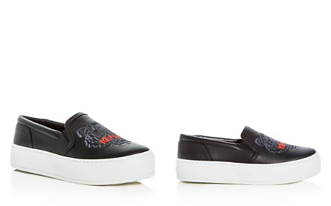 Kenzo Women's Tiger Embroidered Leather Slip-On Platform Sneakers - Bloomingdale's_2