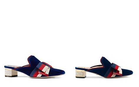 Gucci Women's Velvet Bow Embellished Mule Pumps - Bloomingdale's_2