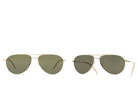 Oliver Peoples Women's Benedict Polarized Aviator Sunglasses, 59mm - Bloomingdale's_2