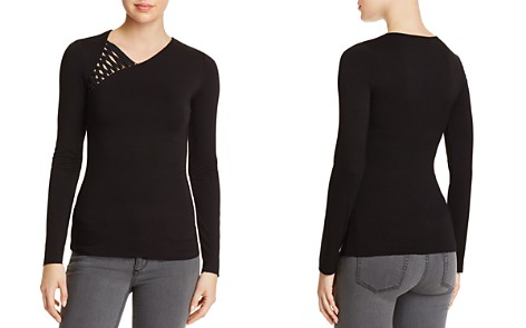 Bailey 44 Karate Asymmetric Lace-Up Top - Bloomingdale's_2