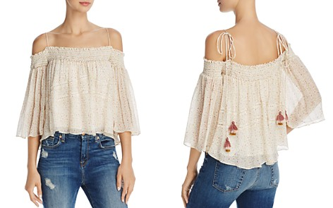 Rebecca Minkoff Casey Smocked Cold-Shoulder Floral-Print Top - Bloomingdale's_2