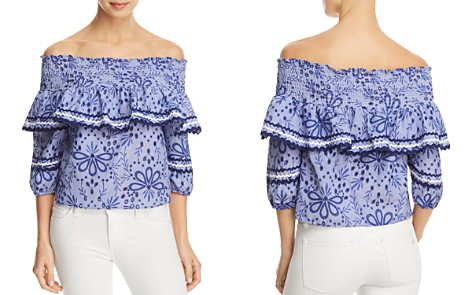Red Carter Paloma Off-the-Shoulder Top - Bloomingdale's_2