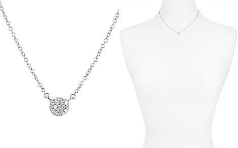 """AQUA Sterling Silver Silver Circle Pendant Necklace, 16"""" - 100% Exclusive - Bloomingdale's_2"""