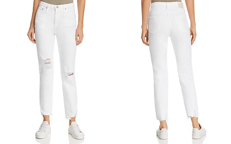 AG Phoebe High-Rise Straight Jeans in 5 Years Tattered White - Bloomingdale's_2