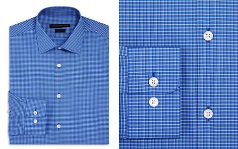 John Varvatos Star USA Mini Check Regular Fit Stretch Dress Shirt - Bloomingdale's_2