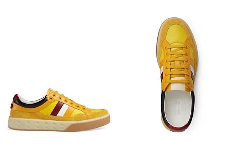 Gucci Men's Leather Web Sneakers - Bloomingdale's_2