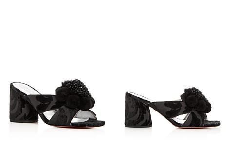 MARC JACOBS Women's Aurora Embellished Faux-Fur & Pom-Pom Block Heel Slide Sandals - Bloomingdale's_2