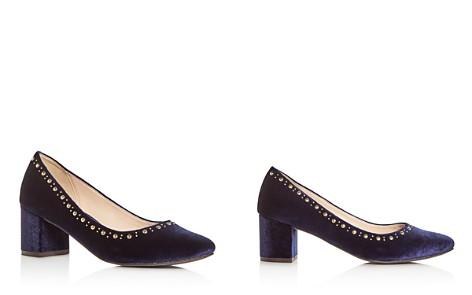 Cole Haan Women's Justine Embellished Velvet Block Heel Pumps - Bloomingdale's_2