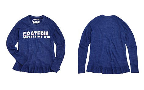 So Nikki... Girls' Ruffled-Trim Grateful Tee - Big Kid - Bloomingdale's_2
