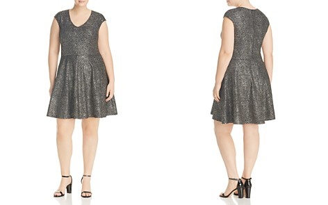 Love Ady Plus Flecked Metallic Fit-and-Flare Dress - Bloomingdale's_2